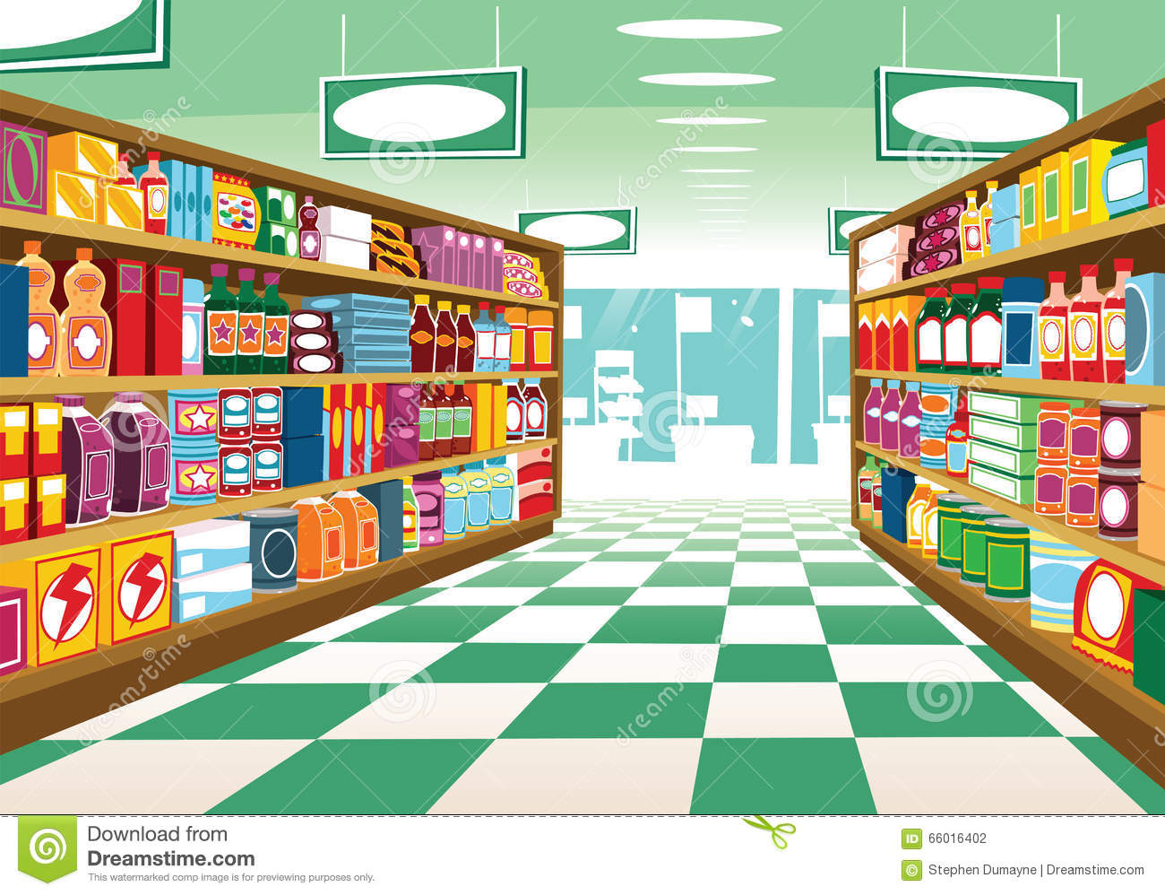 Clip Art Grocery Store Aisle