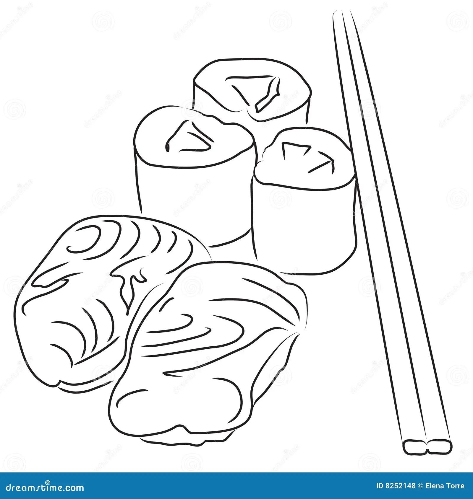 Sushi Stock Illustration Illustration Of Californiat