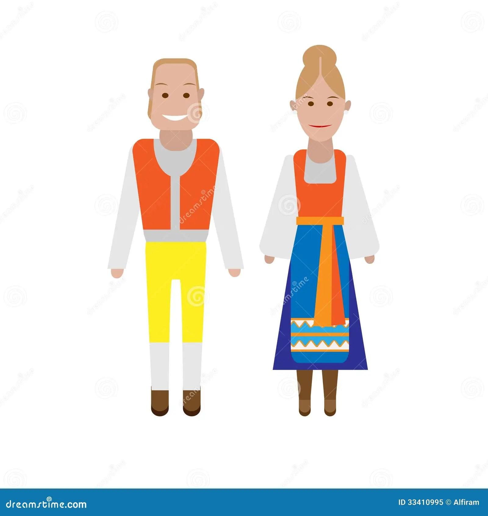 Swedish National Costume Stock Vector Image Of National