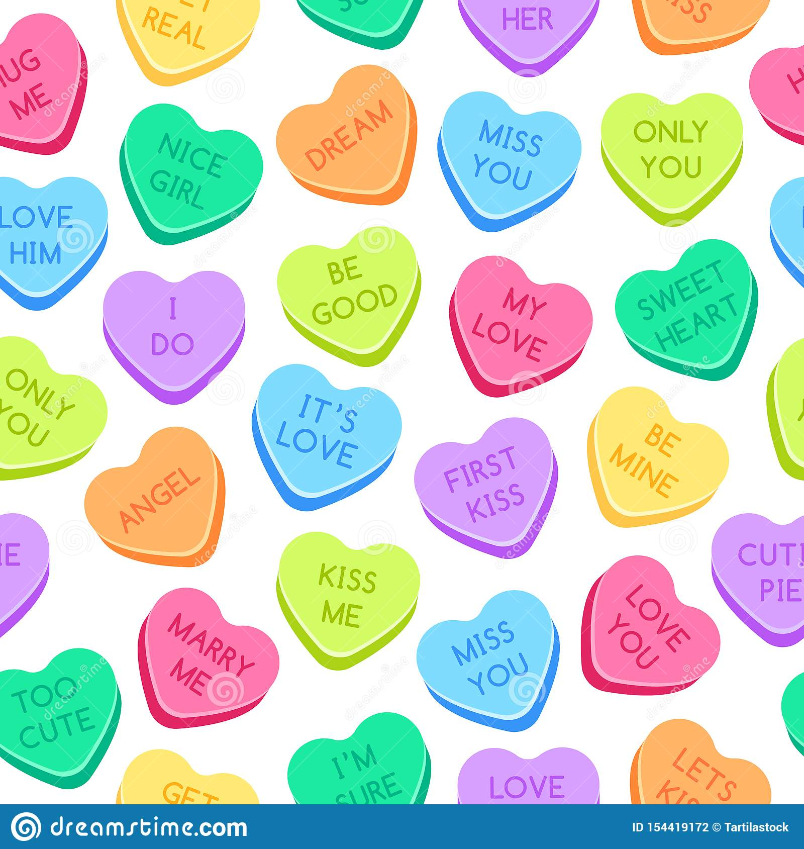 Sweet Heart Can S Pattern Colorful Valentines Hearts