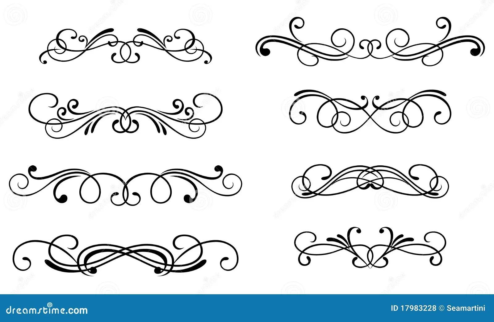Swirl Elements Stock Vector Image Of Cartouche Element