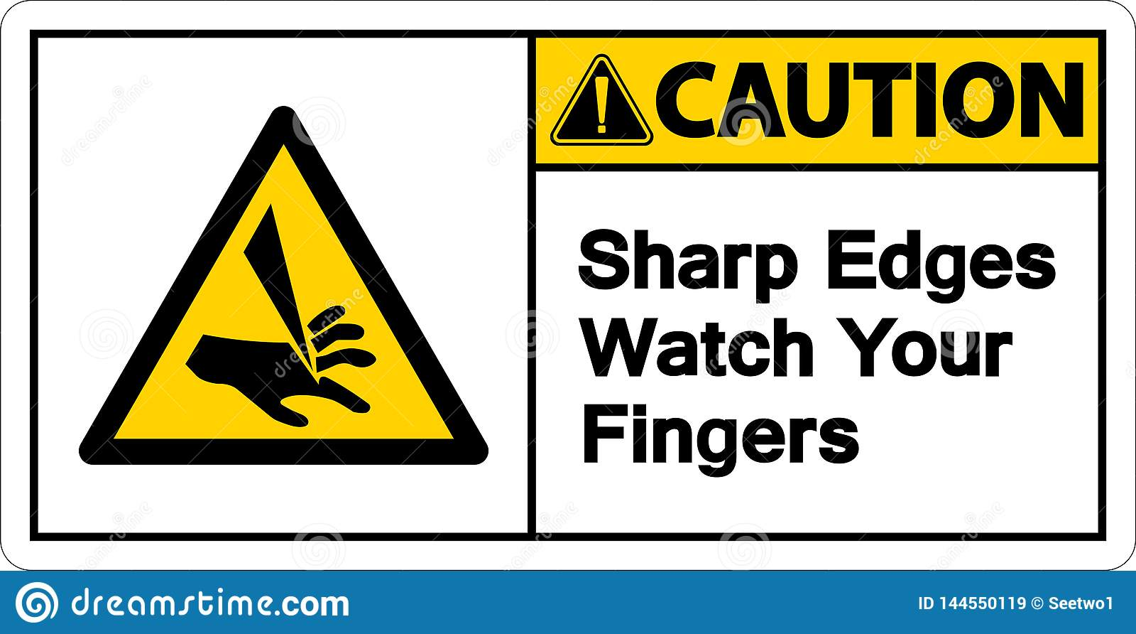 Symbol Caution Sharp Edges Watch Your Fingers Symbol Sign