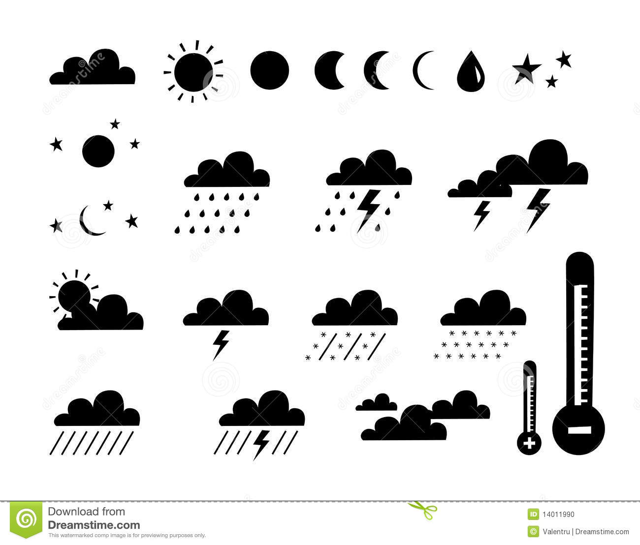Symbol Of Weather And Climate Stock Photo