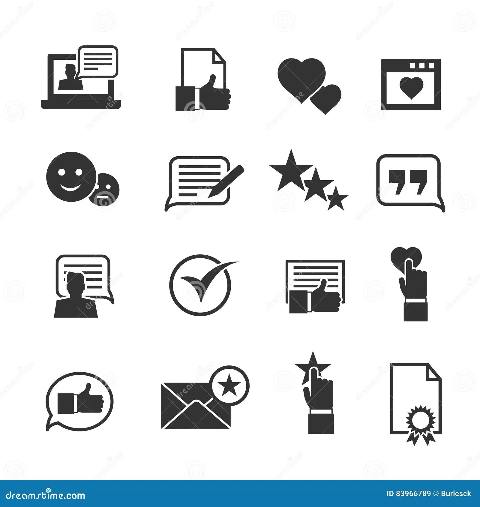 Symboler For Konsumentlojalitet Kundintygtecknet Och Anvandare Erfar Varderingssymboler