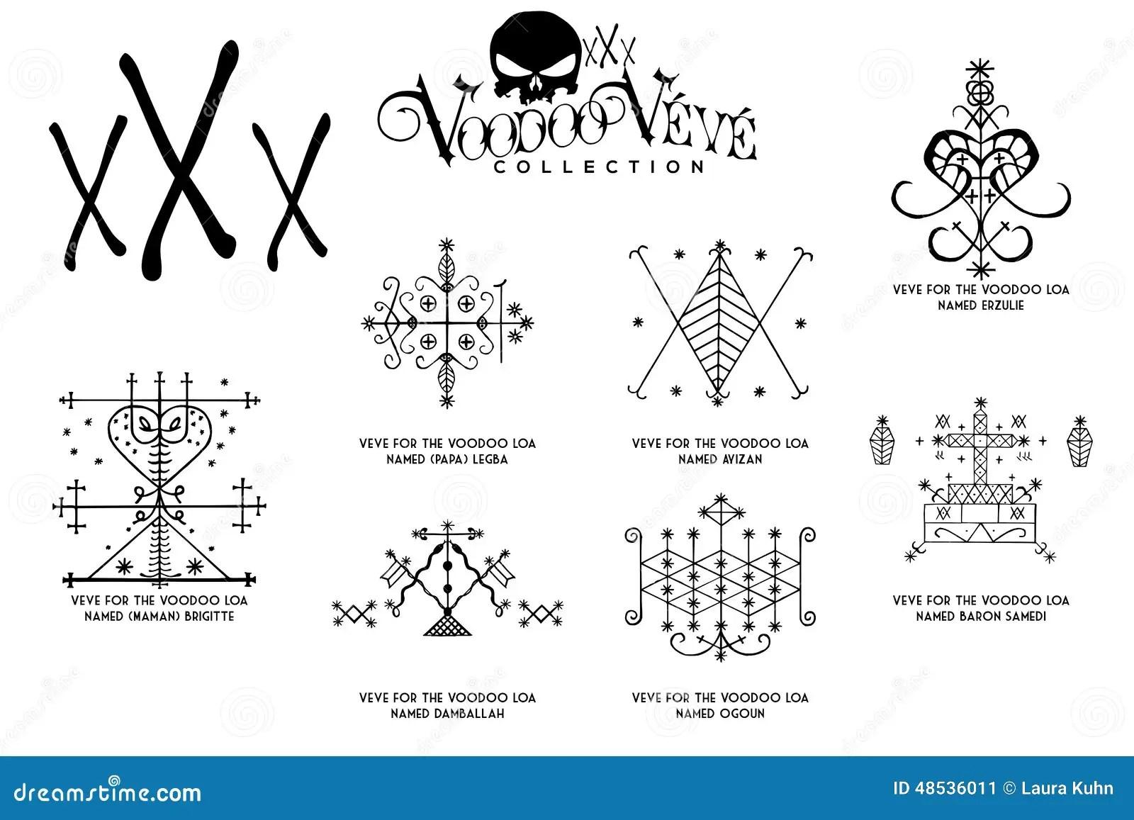 Symboles D Esprit De Vaudou Image Stock