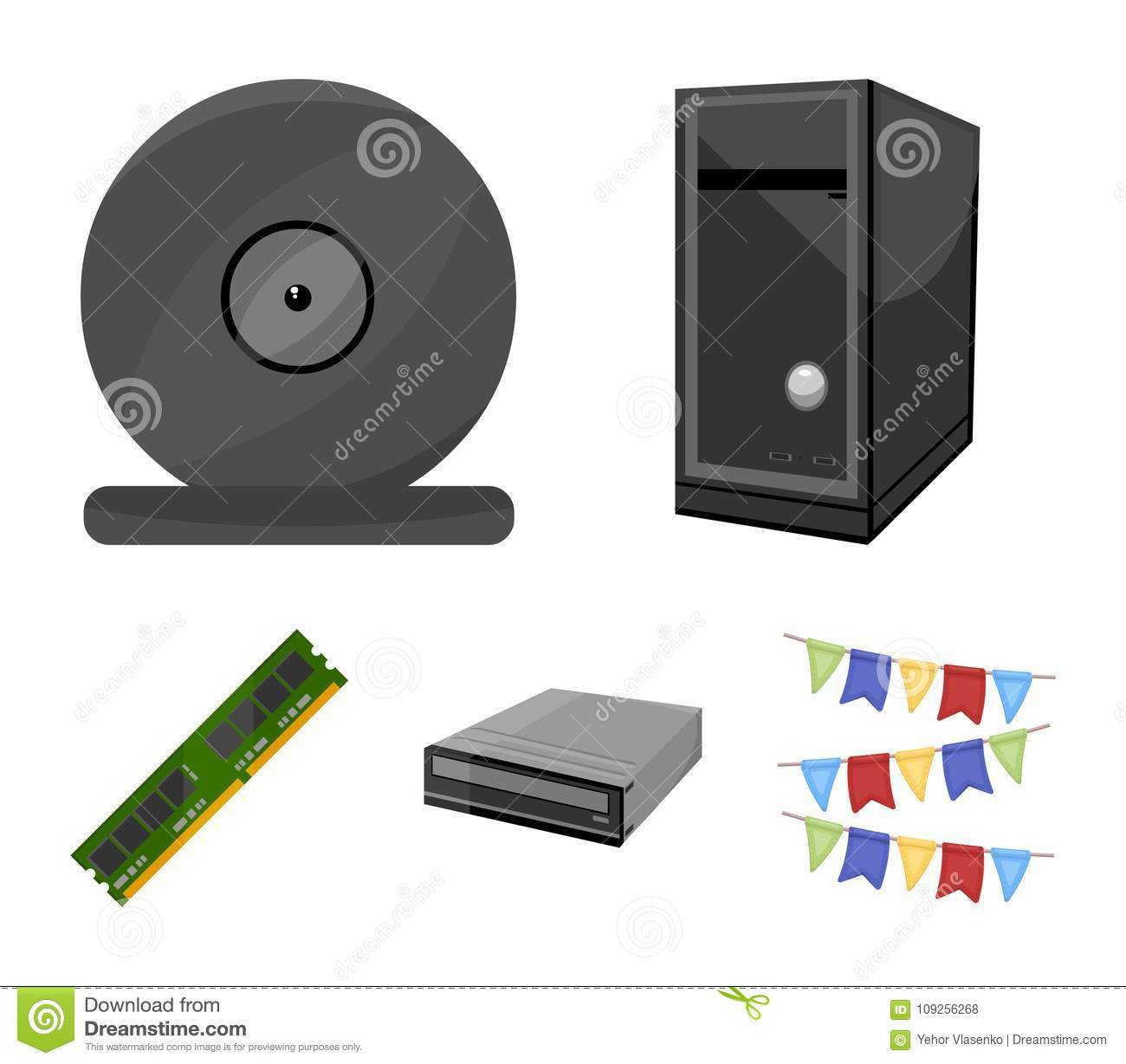 System Unit Memory Card And Other Equipment Personal