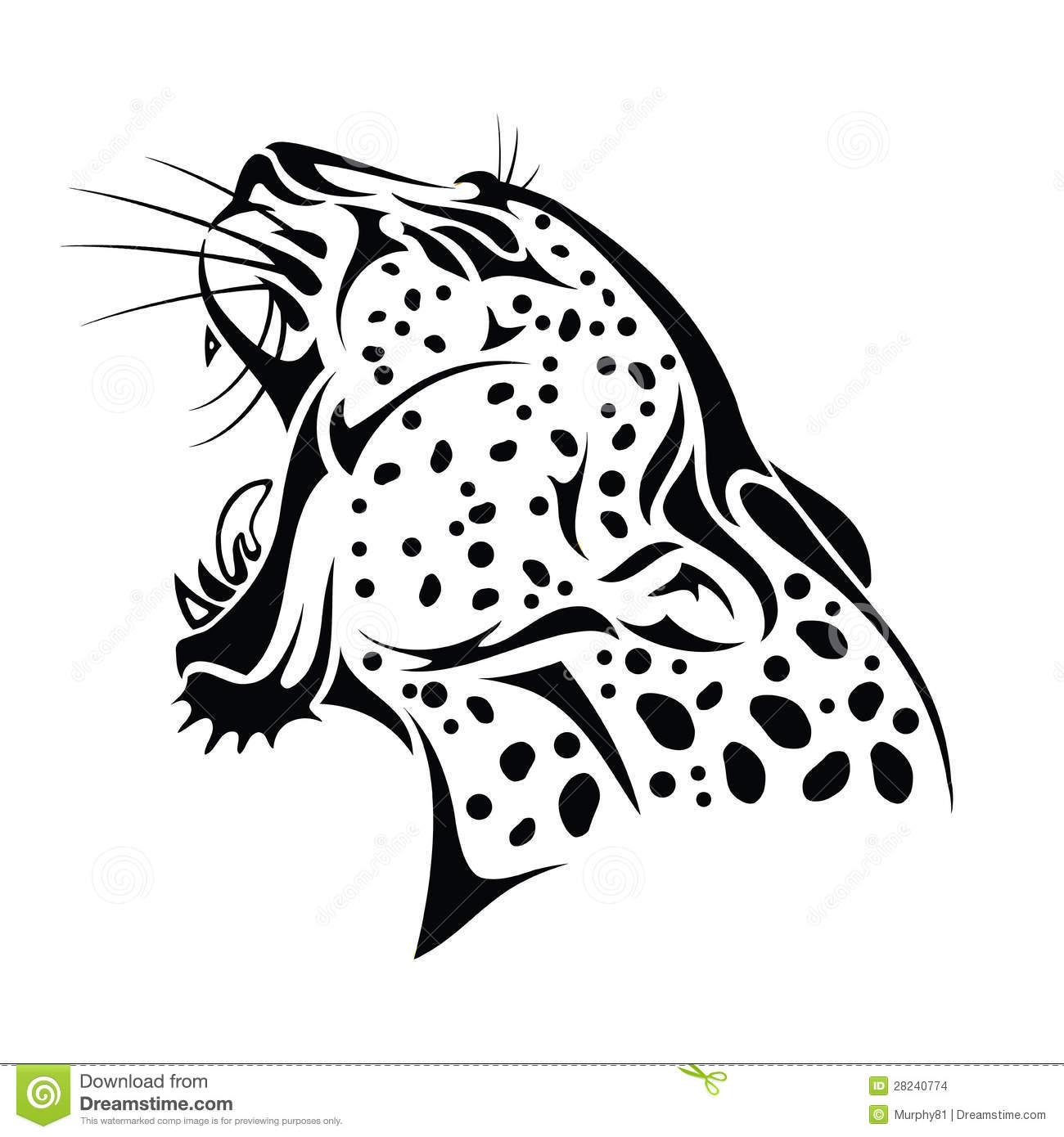 Images Stock Isolated Jaguar Head Image