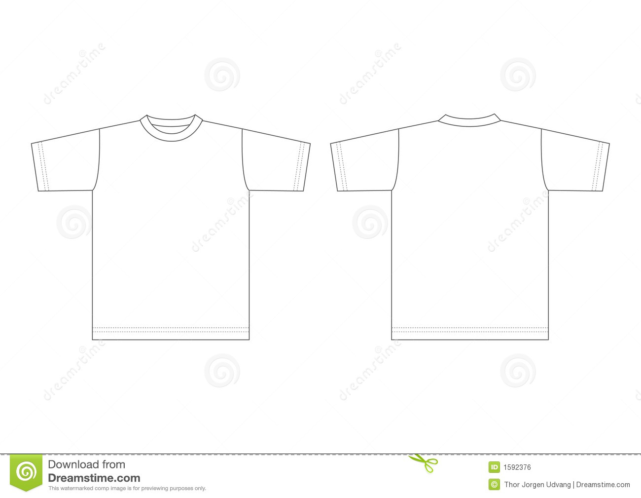 T Shirt Blanc Illustration De Vecteur Illustration Du