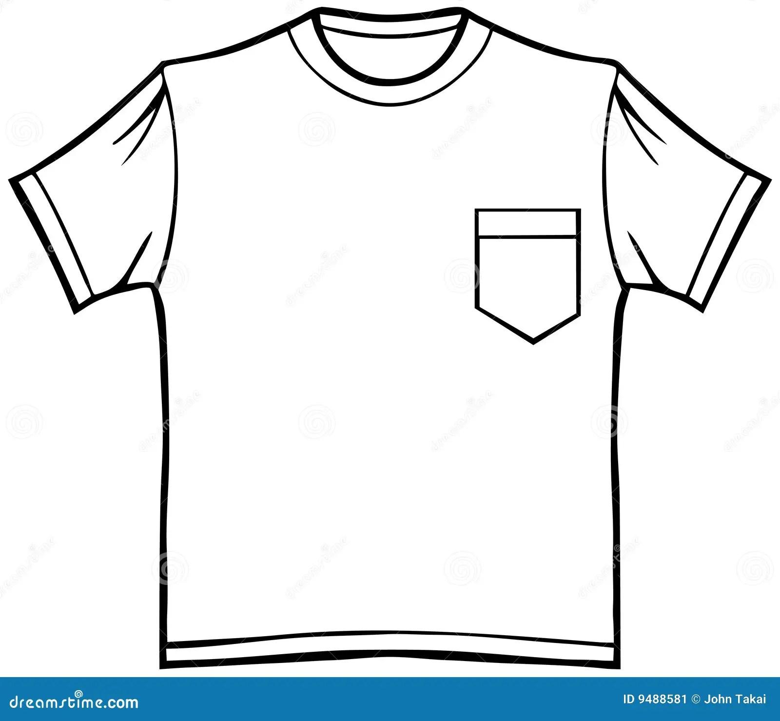 T Shirt Mit Tasche Vektor Abbildung Illustration Von