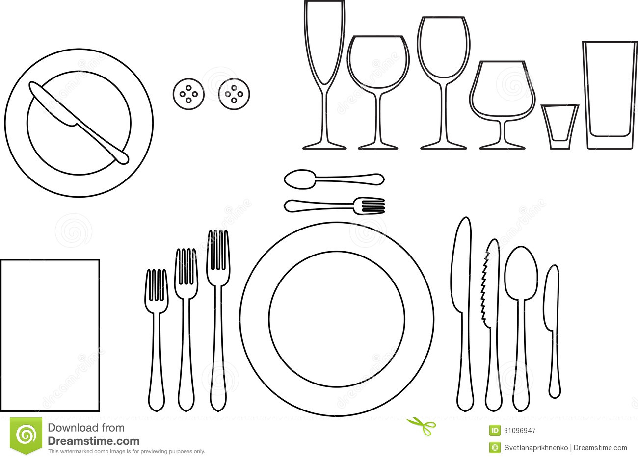 Tableware Stock Vector Image Of Meal Food Beverage
