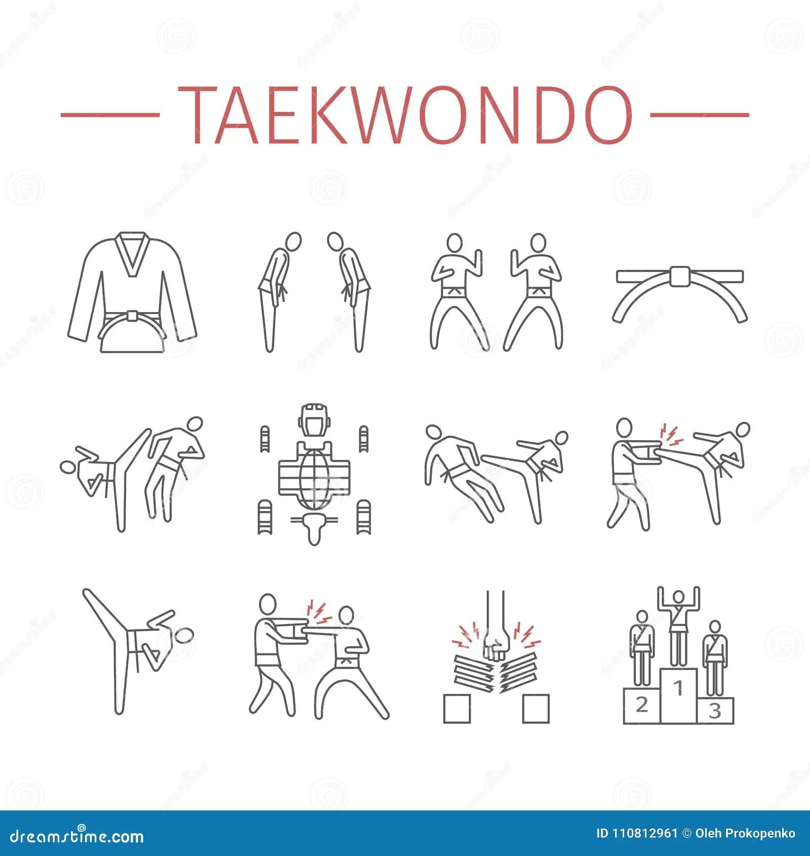 Taekwondo Cartoons Illustrations Amp Vector Stock Images
