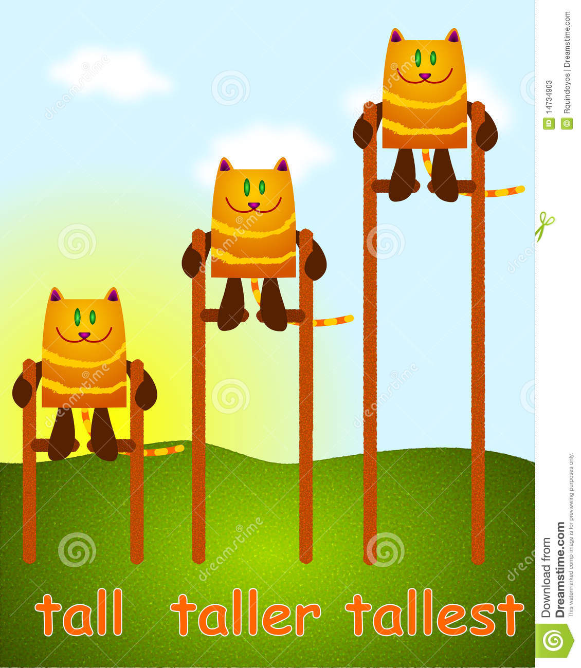 Tall Taller Tallest Stock Illustration Illustration Of