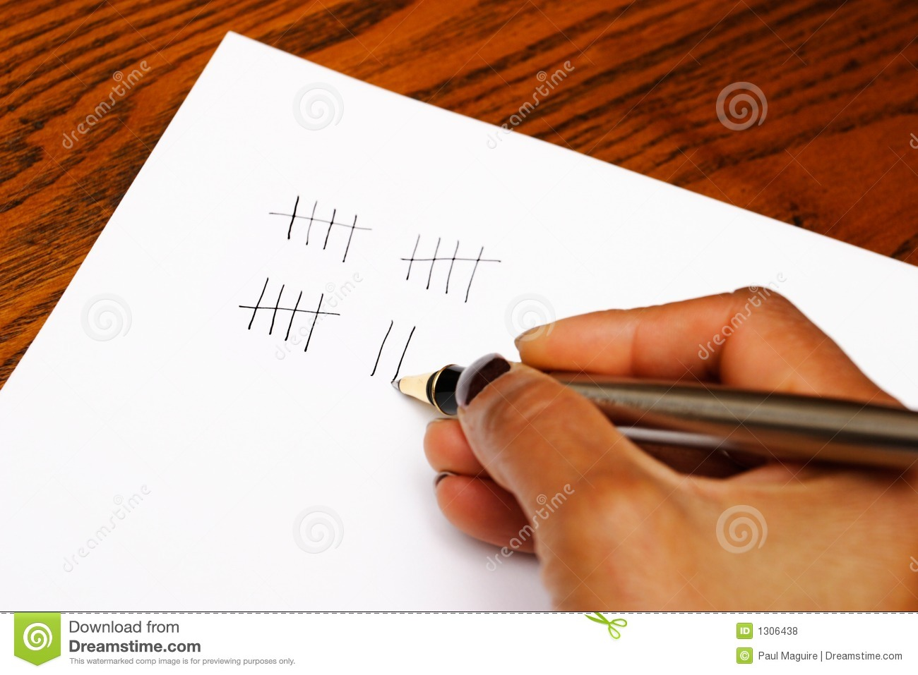 Tally Stock Photo Image Of Maths Account Hand Closeup