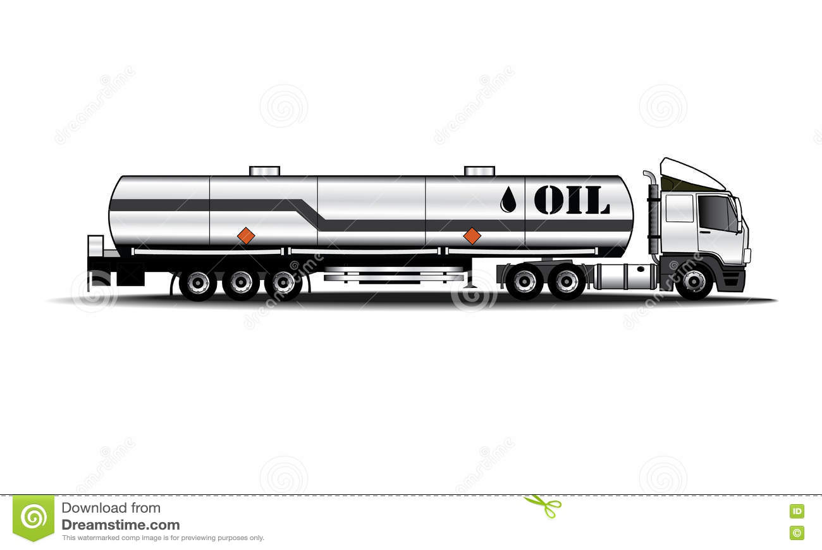 Tank Truck Stock Vector Illustration Of Flammable Power
