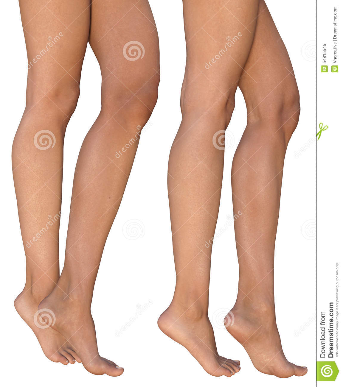 Tanned Female Legs Standing On Toes Stock Image