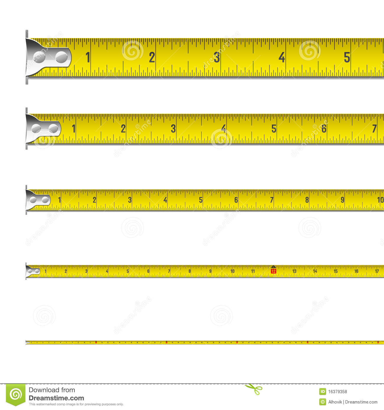 Tape Measure In Inches Royalty Free Stock Photos