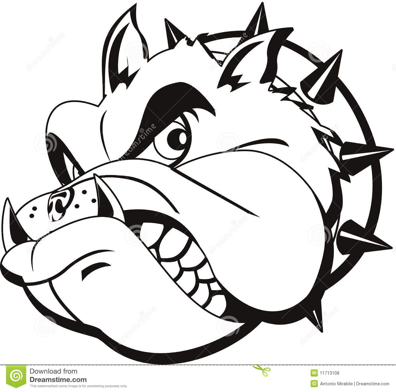 Tattoo Bulldog Stock Vector Illustration Of Gray Logo