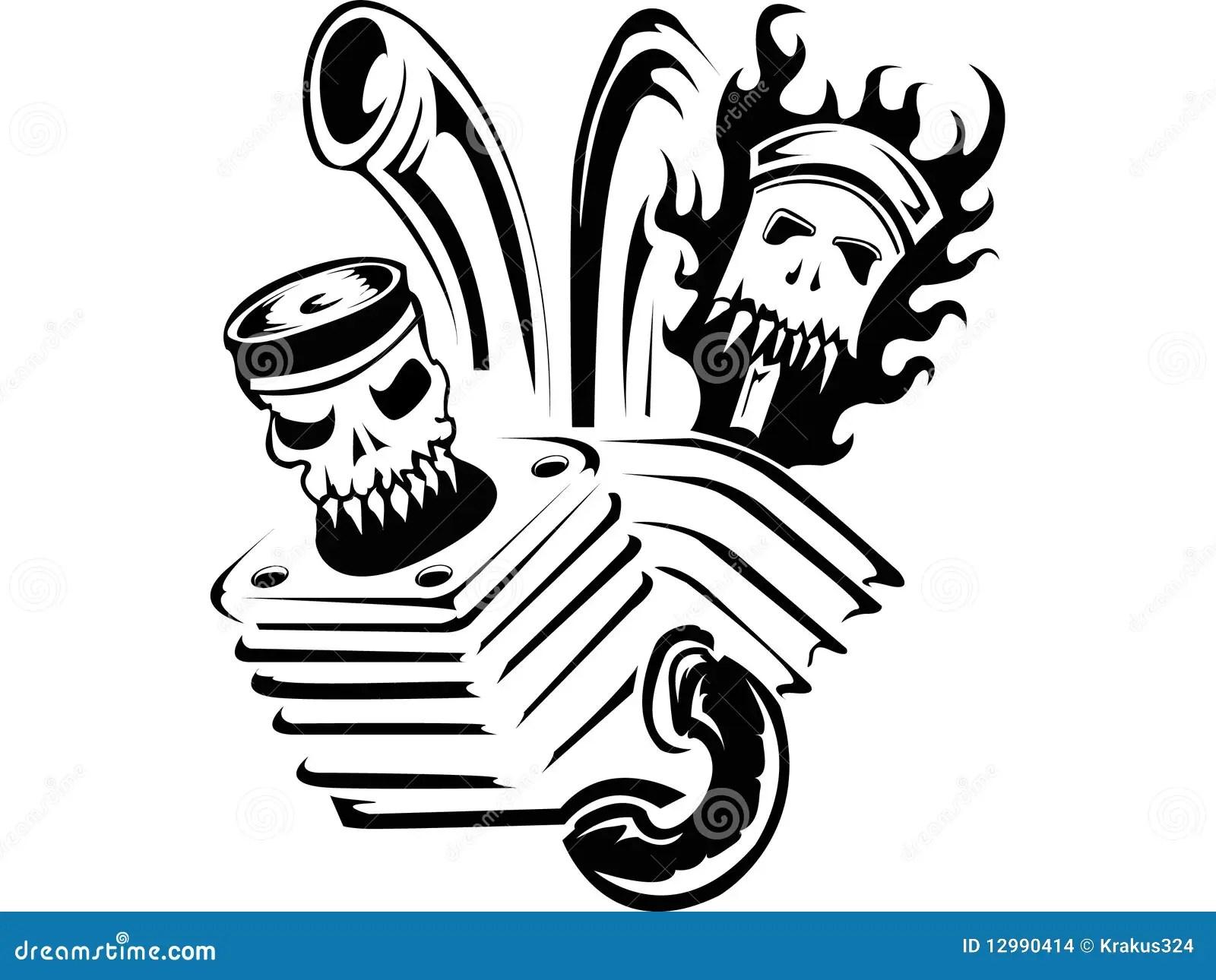 Tattoo Infernal Motor Stock Vector Illustration Of Clip