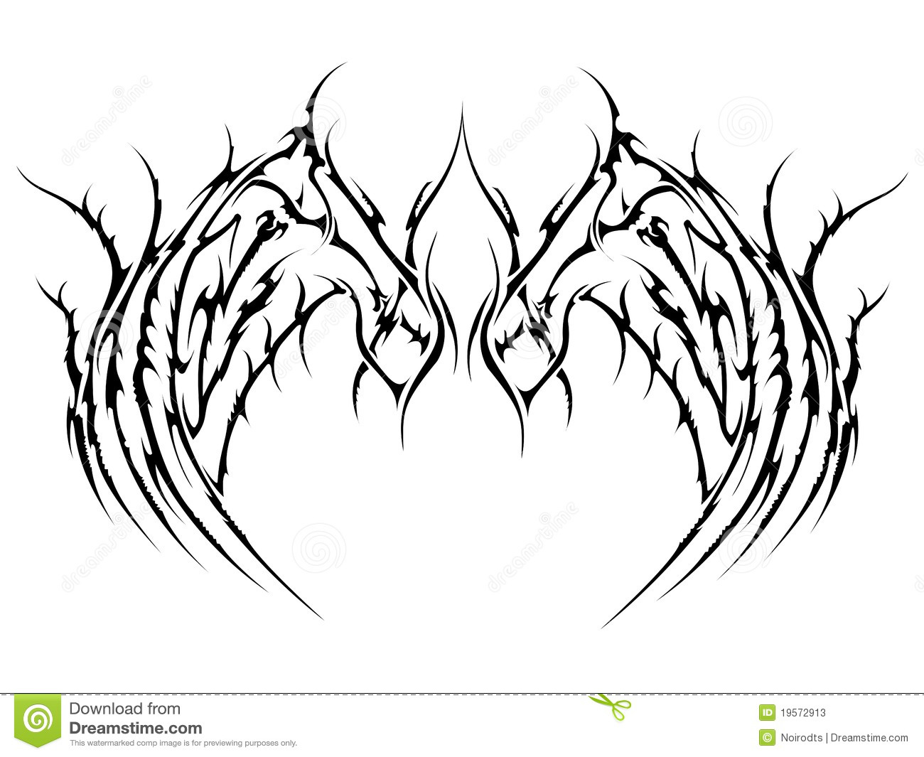 Tattoo Wings Stock Vector Illustration Of Isolated