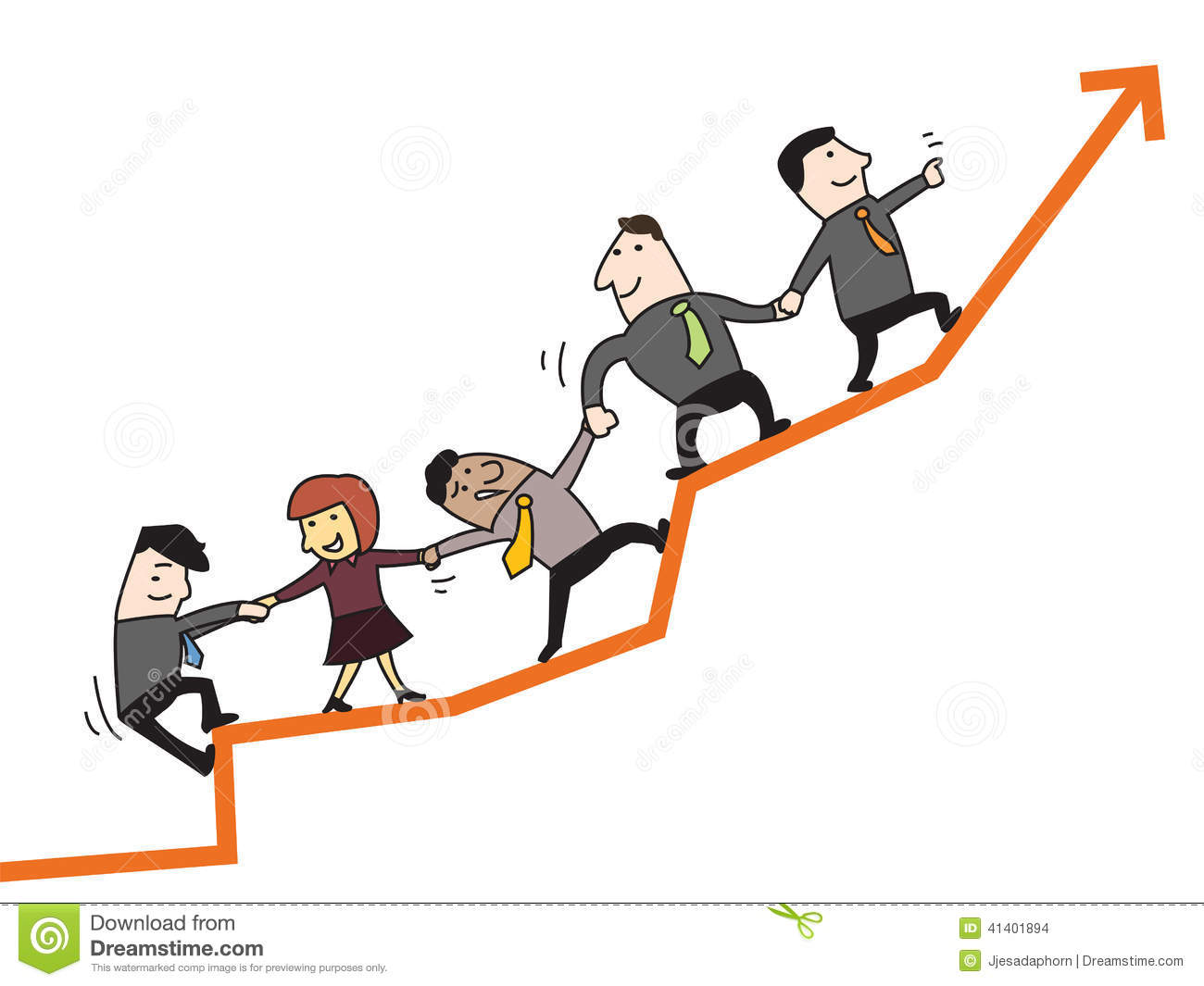Teamwork To Success Stock Vector Illustration Of Help