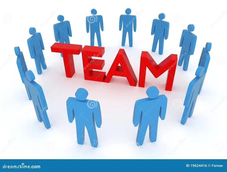Teamwork work stock illustration. Illustration of problem - 19624416