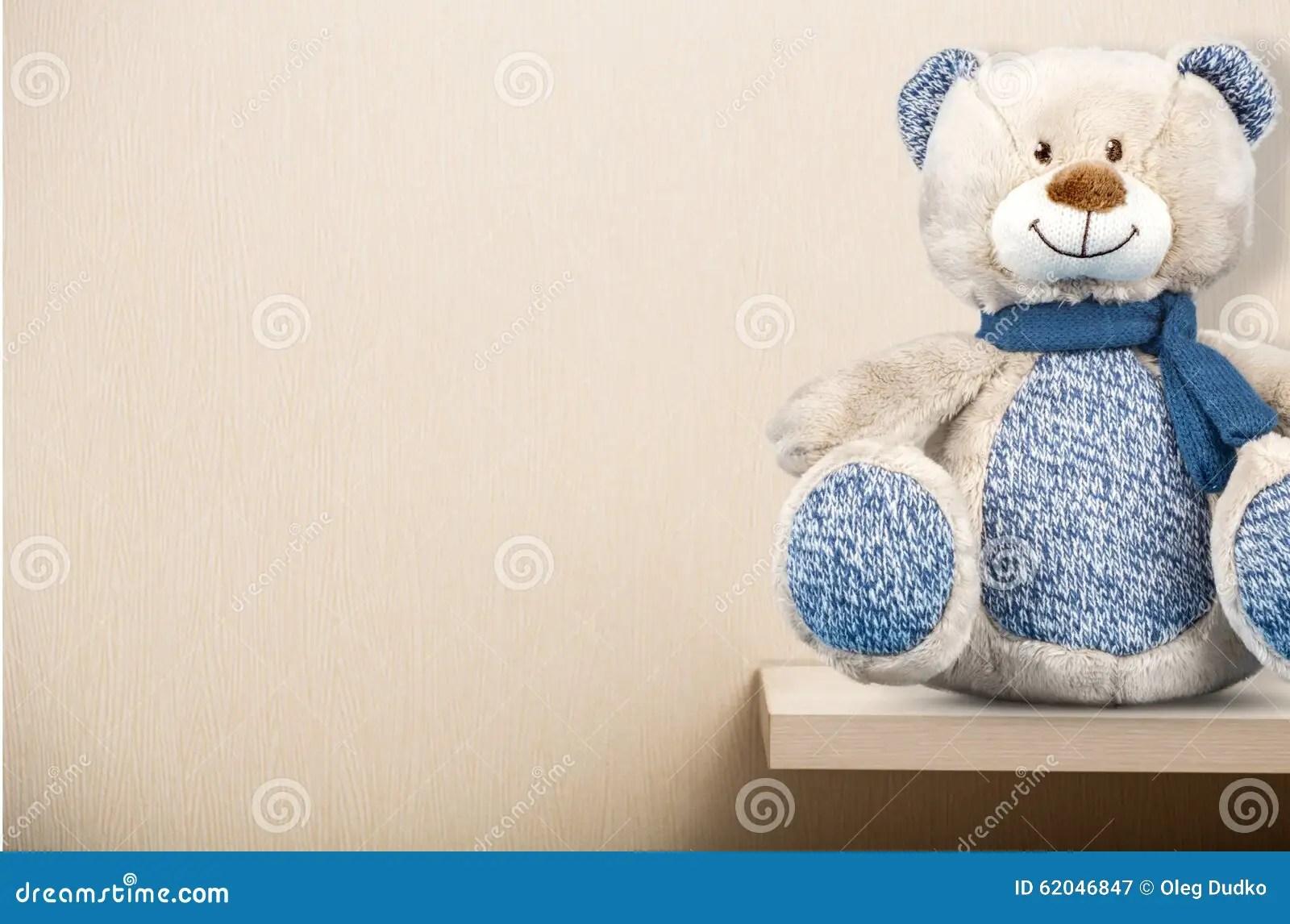 Teddy Bear On Shelf Stock Image Image Of Shelf Bear