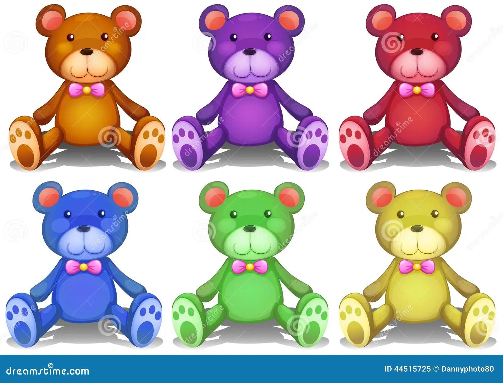 Teddy Bears Colorido Ilustracion Del Vector Ilustracion