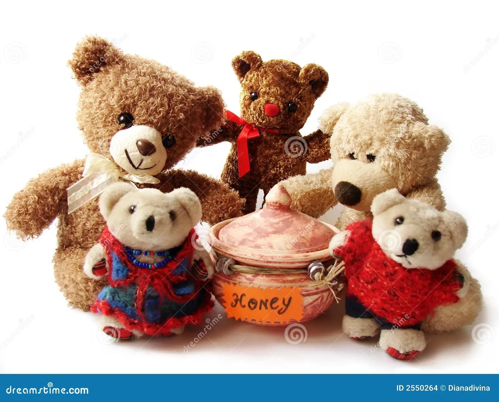 Teddy Bears Amp Honey Stock Images Image 2550264