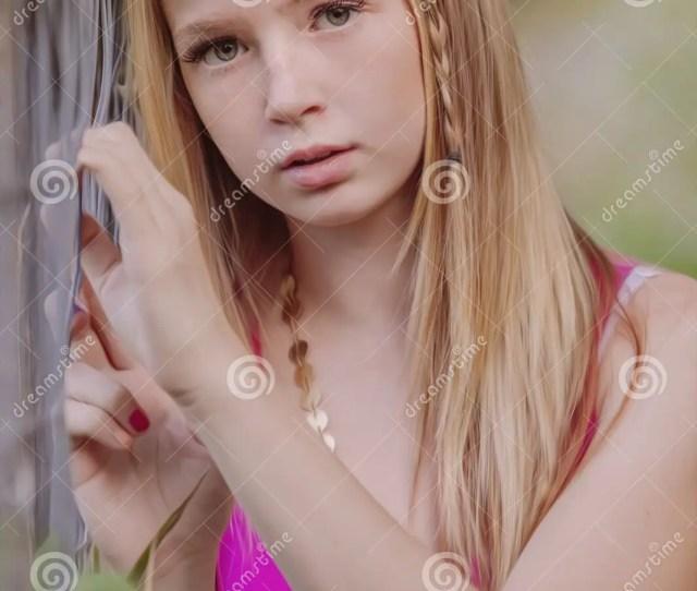 Beautiful Young Girl Posing For Camera
