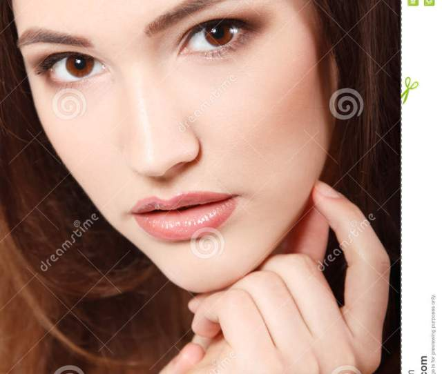 Teen Girl Beauty Face Happy Smiling And Looking At Camera