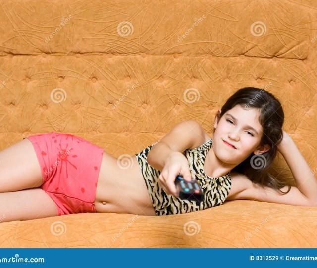 Teen Girl With Control Panel