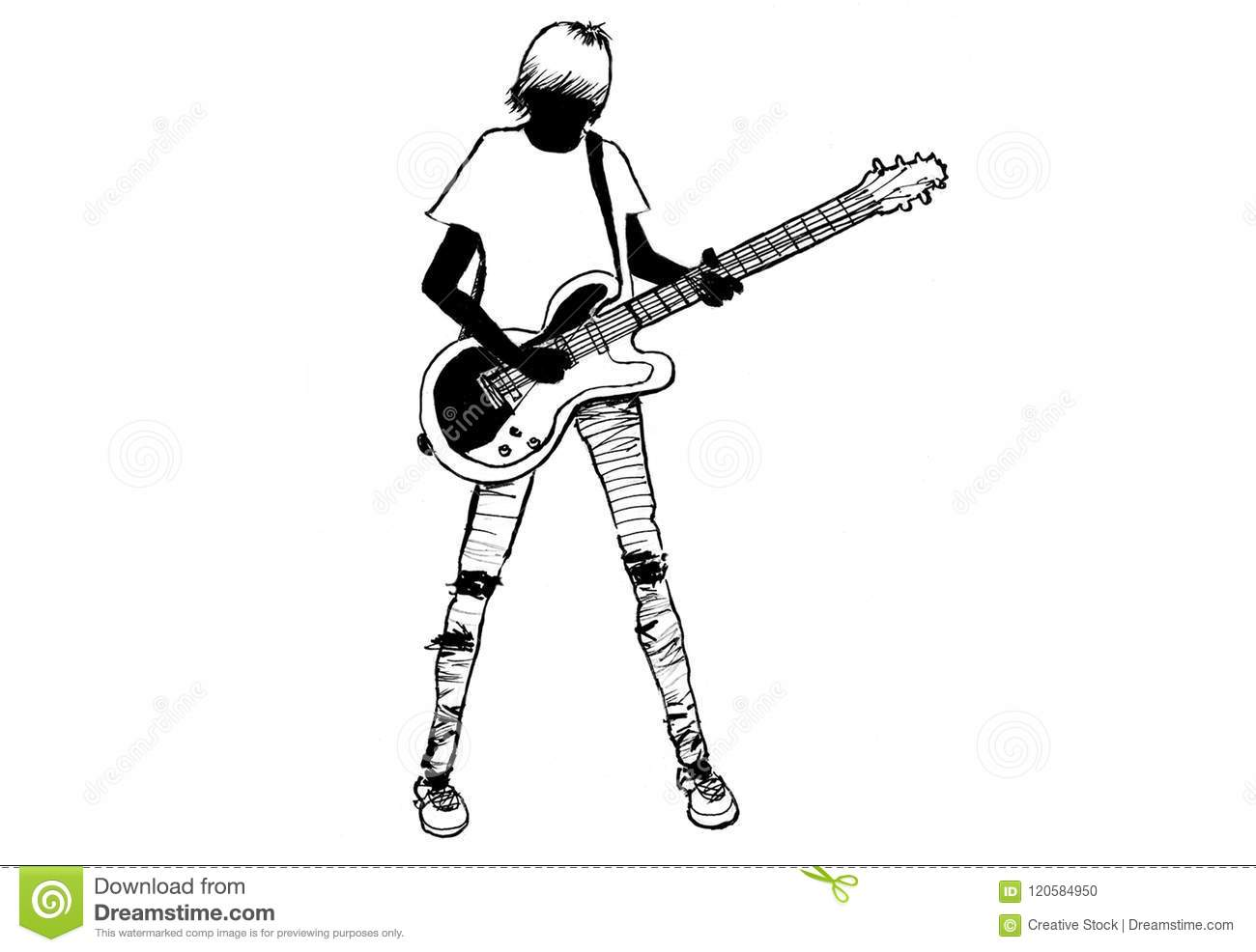 Teen Guitar Player