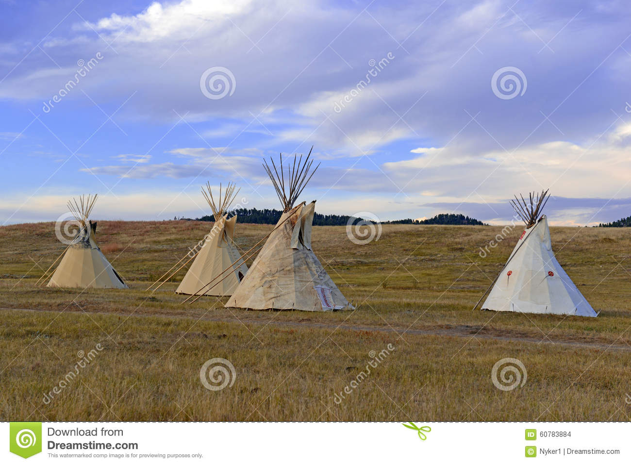 Teepee Tipi As Used By Native Americans In The Great