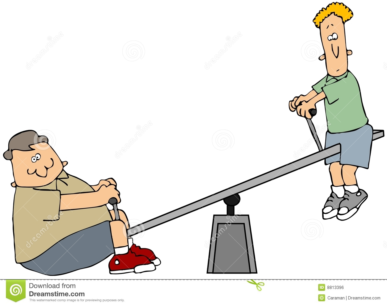Teeter Totter Royalty Free Stock Image