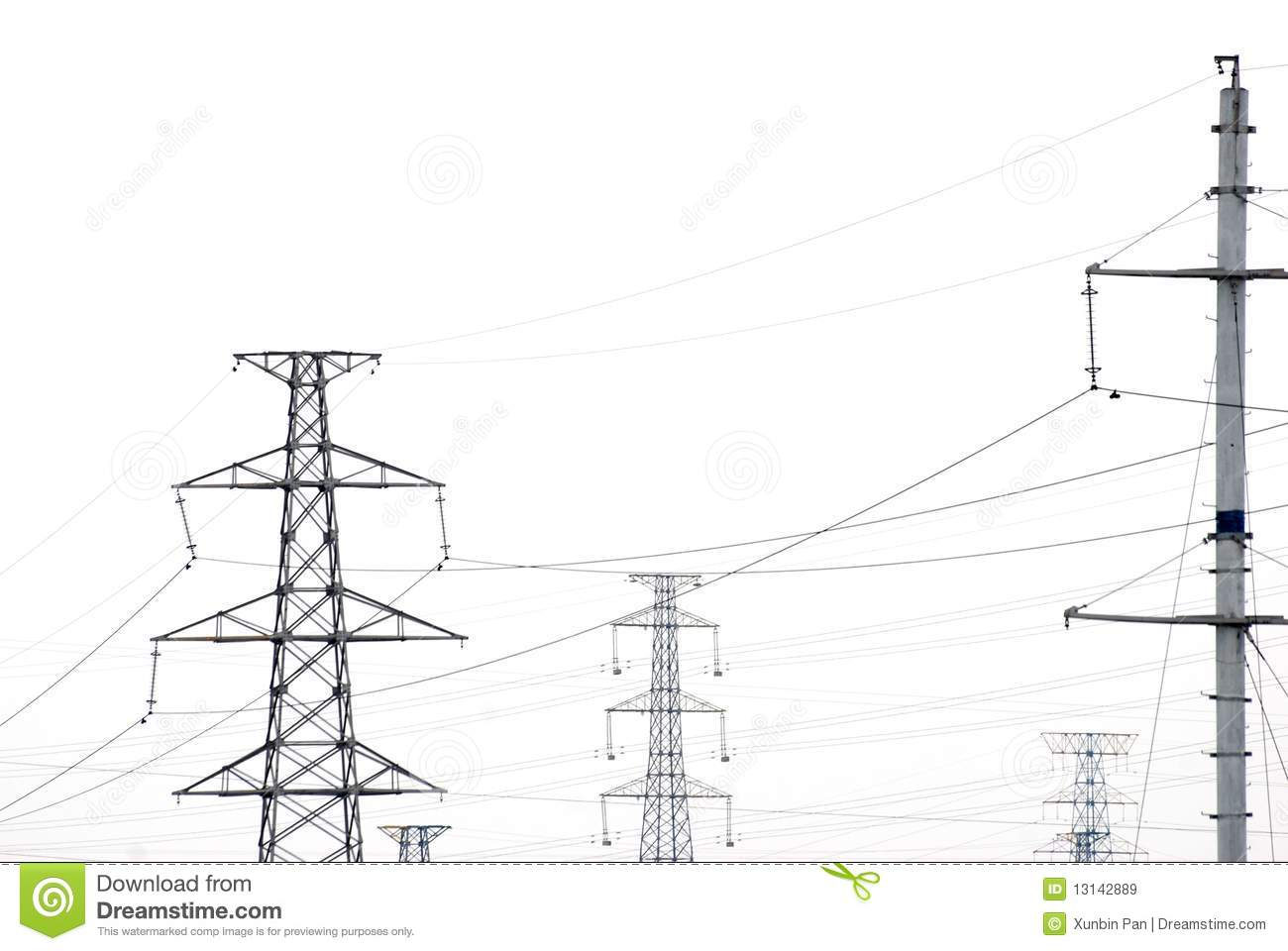 Telegraph Pole Wire Royalty Free Stock Images