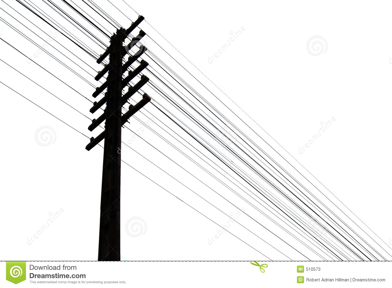 Telegraph Wires Stock Illustration Image Of Call Energy
