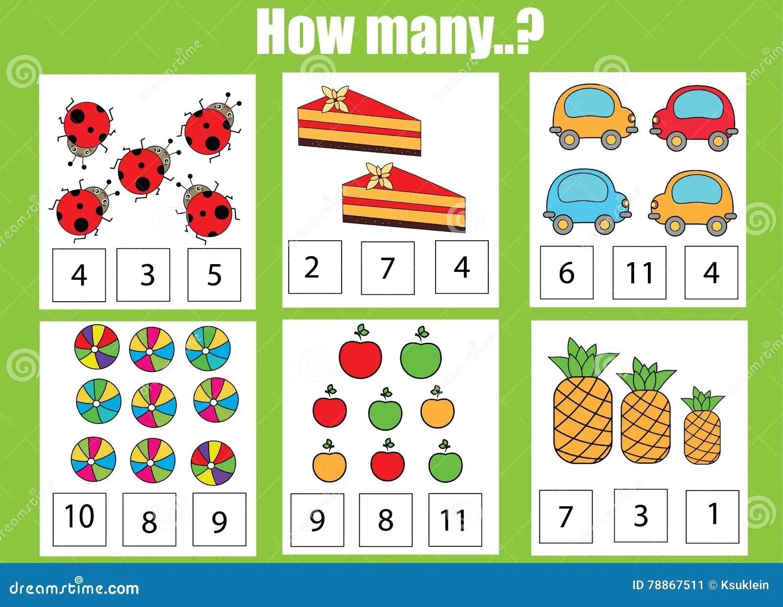 Tellend Onderwijskinderenspel Het Aantekenvel Van De