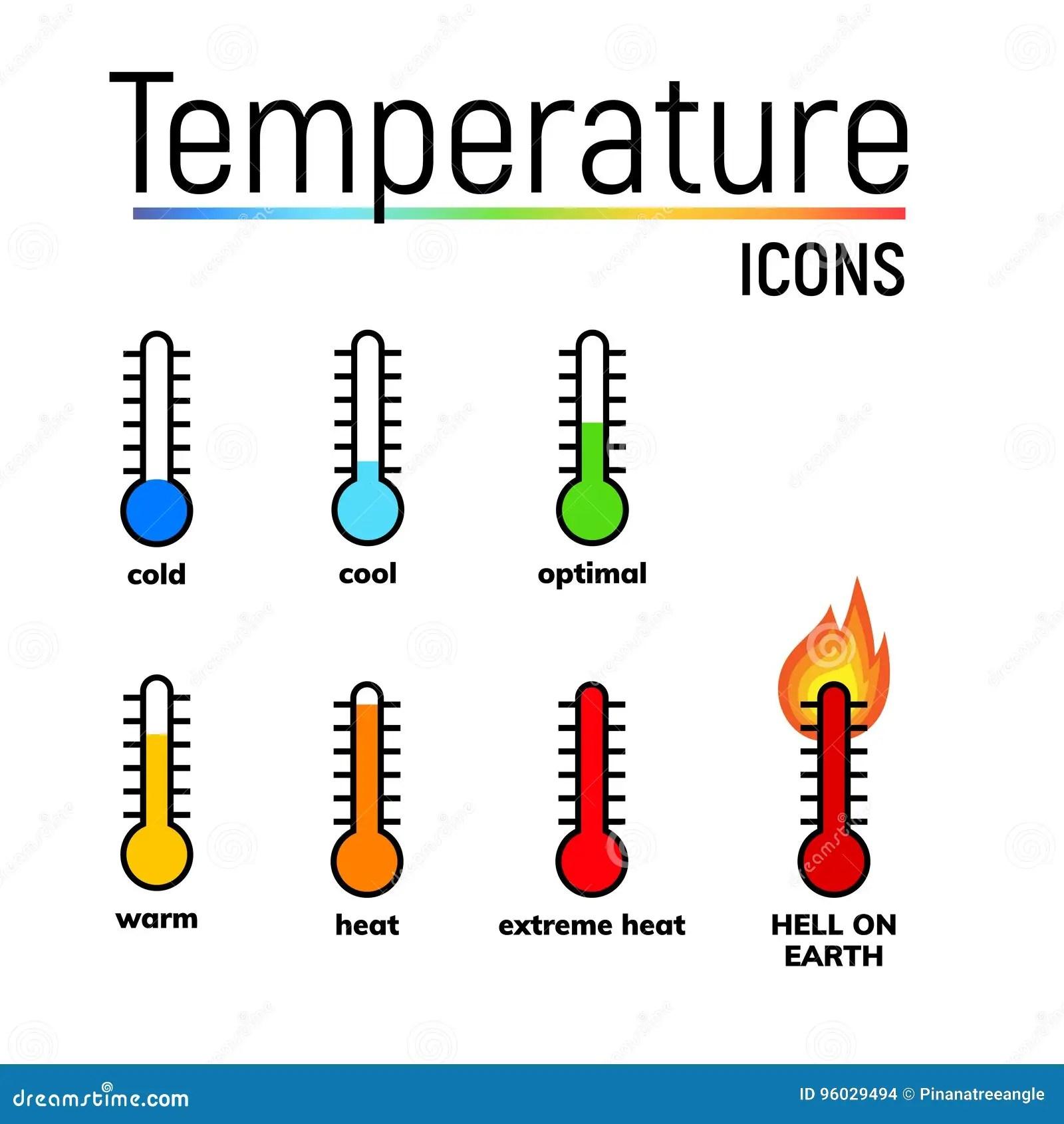 Temperaturikone Clipart Stock Abbildung Illustration Von