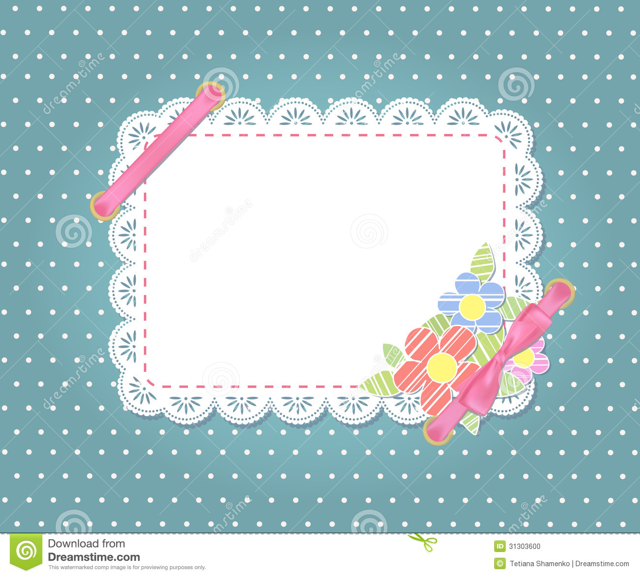 Template Frame Design For Card Stock Photo Image 31303600