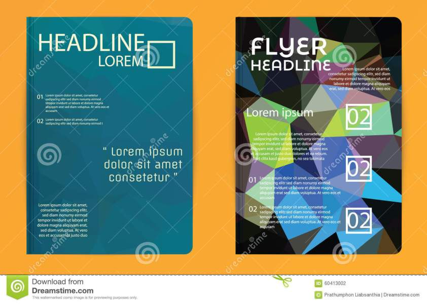 Template Polygon Abstract Design Magazine Brochure Flyer Booklet     Download comp