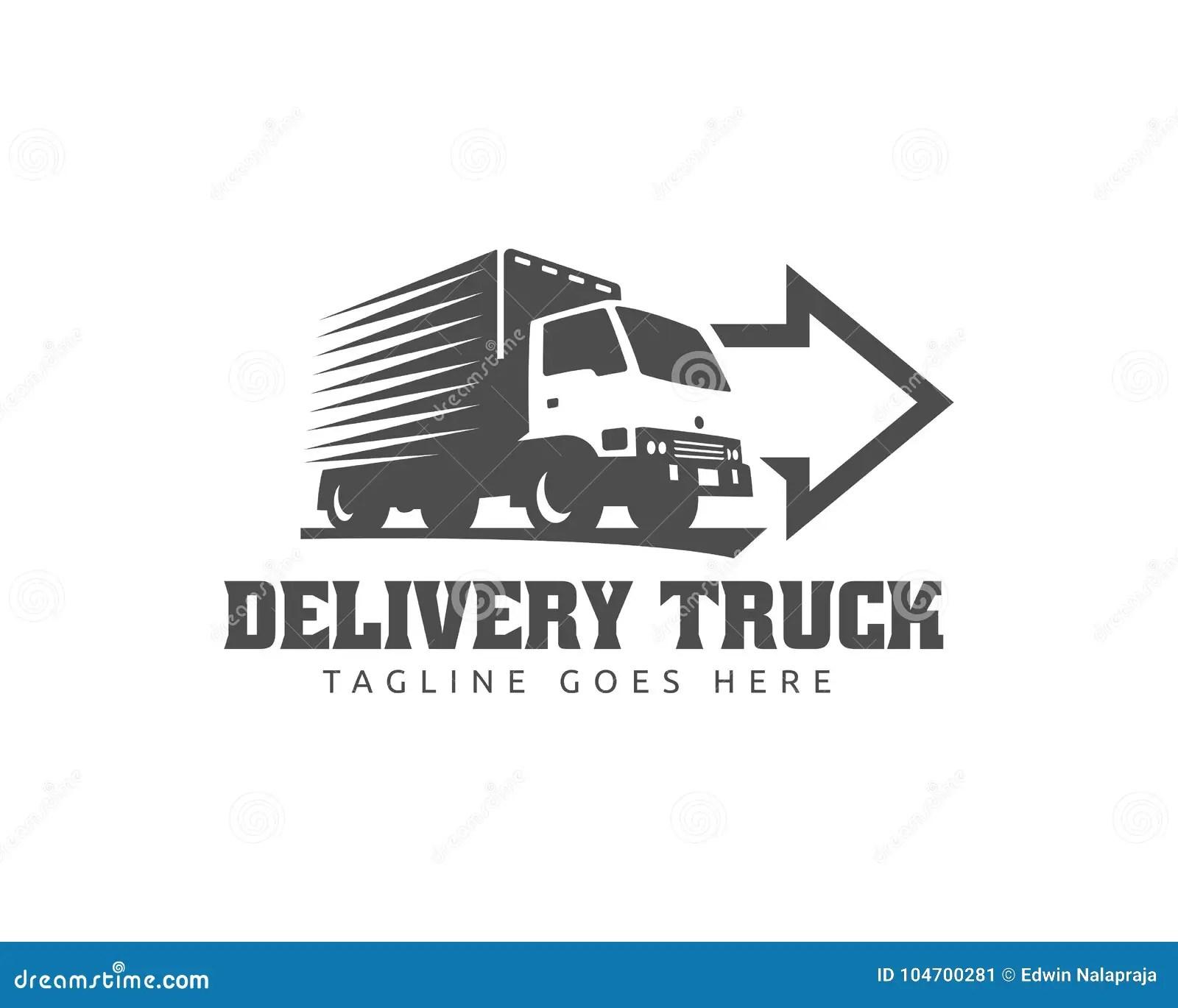 Truck Logo Cargo Logo Delivery Cargo Trucks Logistic Logo Stock Vector