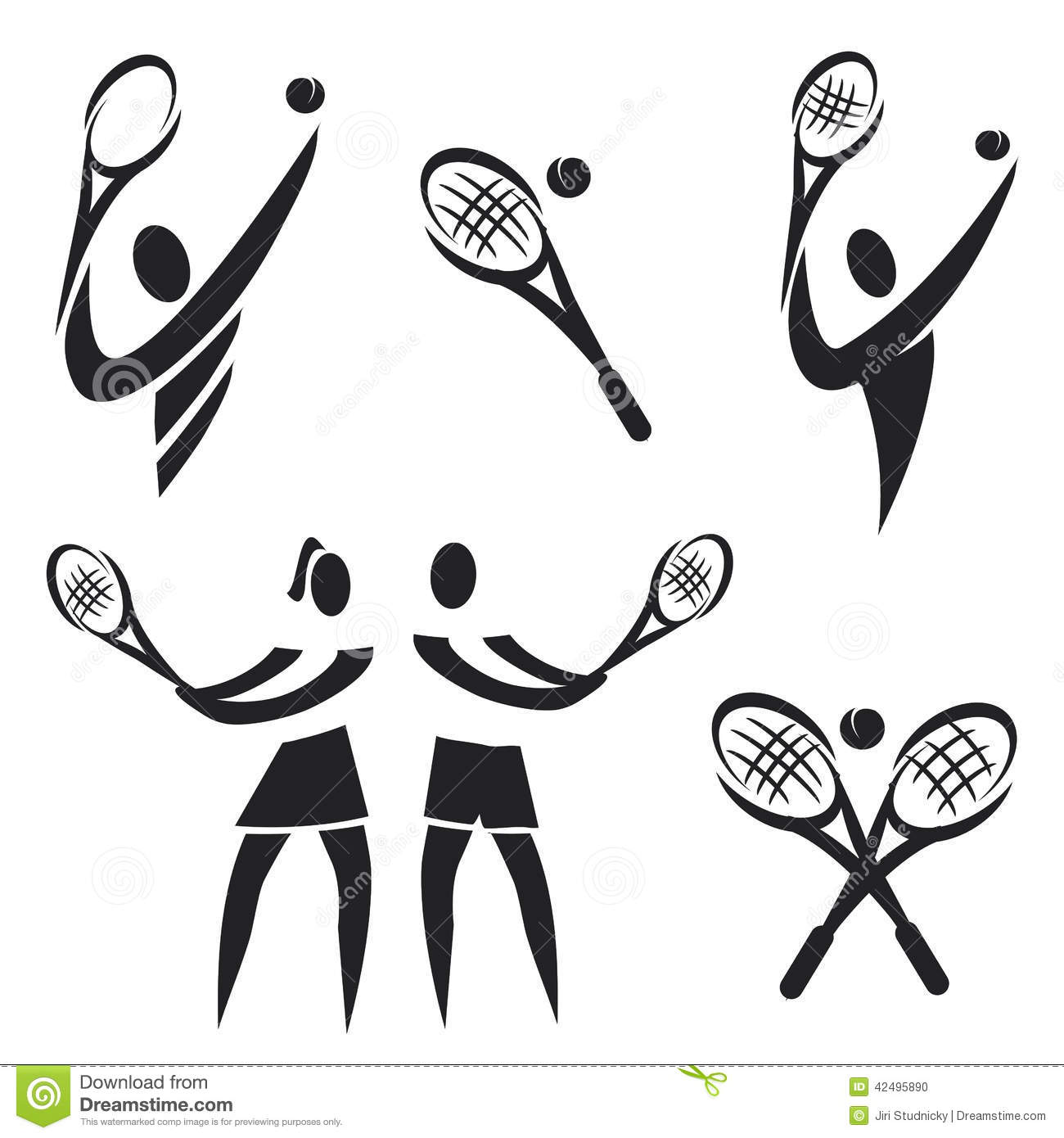 Tennis Icons Stock Vector Illustration Of Ball Sports