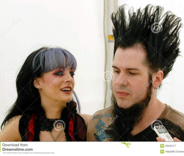 Pornographic Actress Tera Wray Left And Singer Wayne Static Right Of American Metal Group Static X In Czech Republic July 4 2009