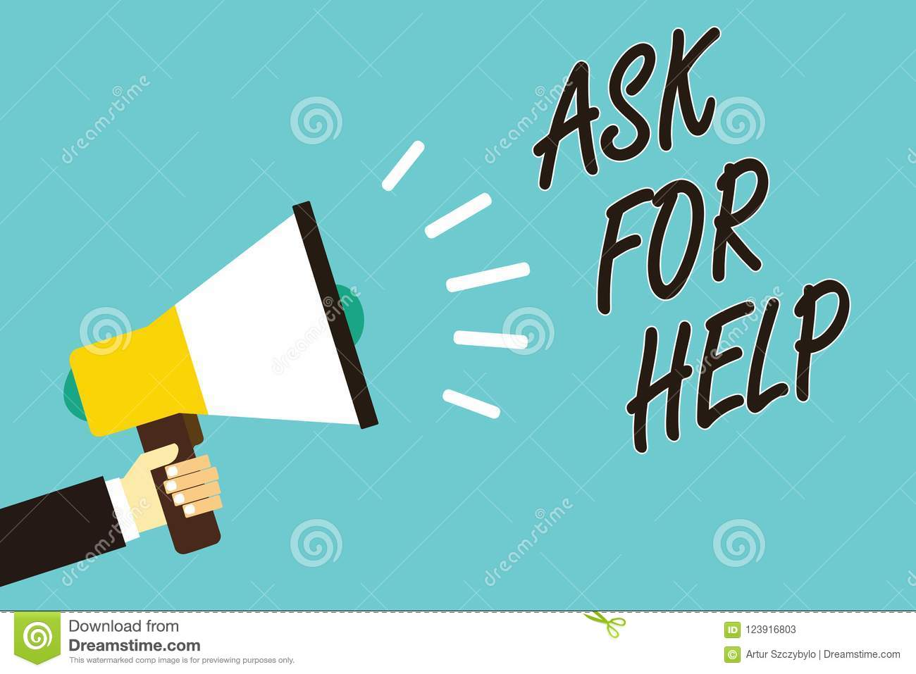 Text Sign Showing Ask For Help Conceptual Photo Request