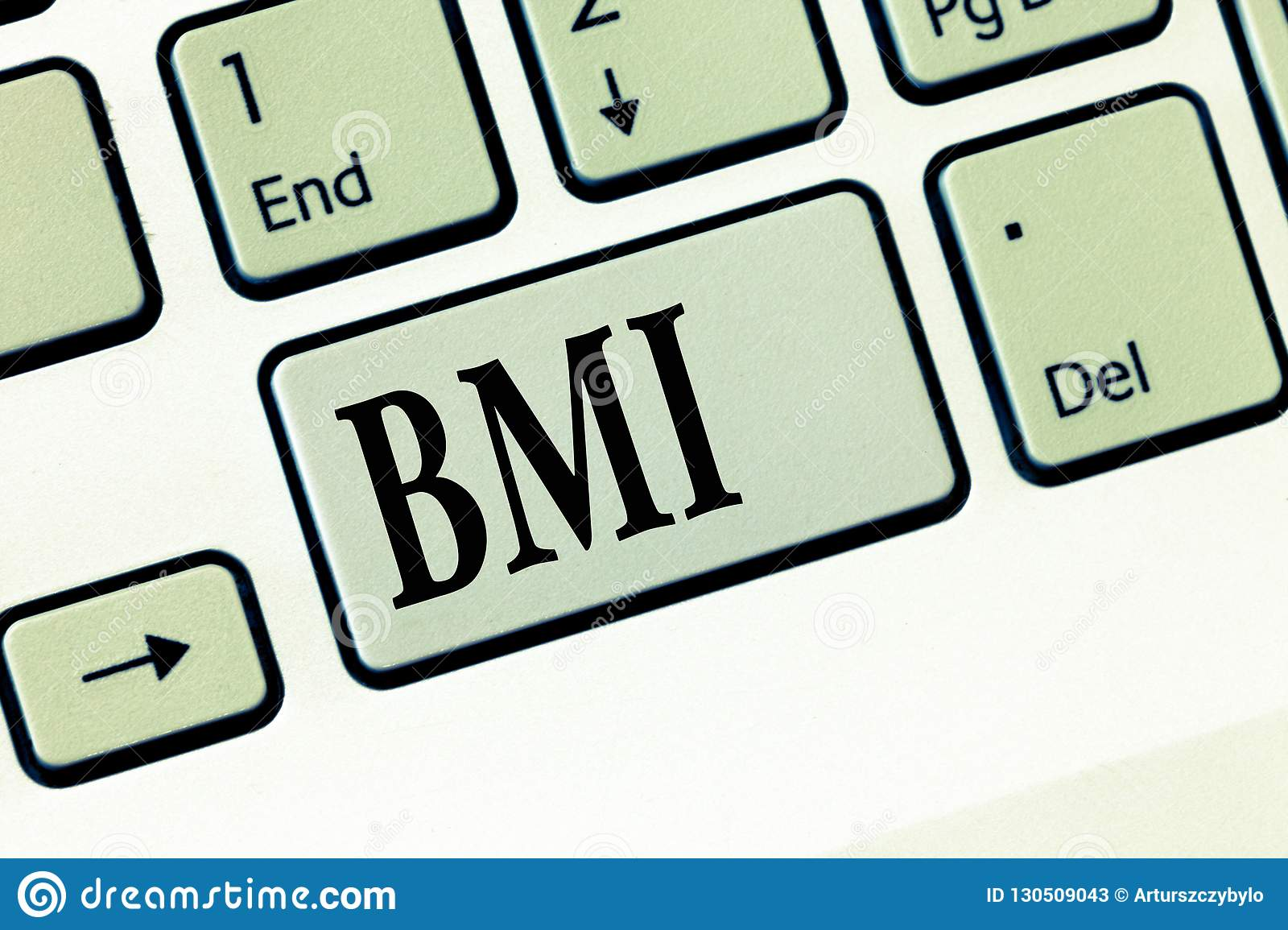 Text Sign Showing Bmi Conceptual Photo Method Of
