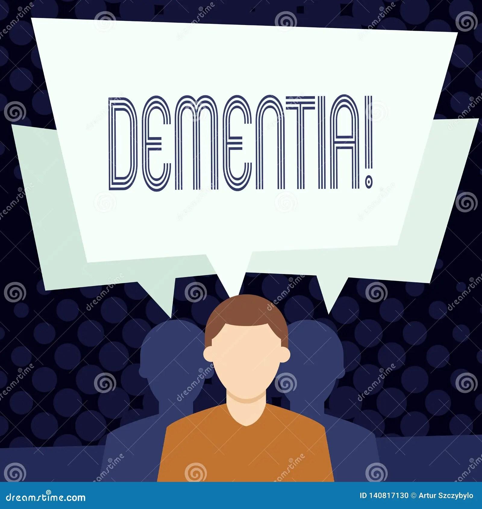 Text Sign Showing Dementia Conceptual Photo Long Term