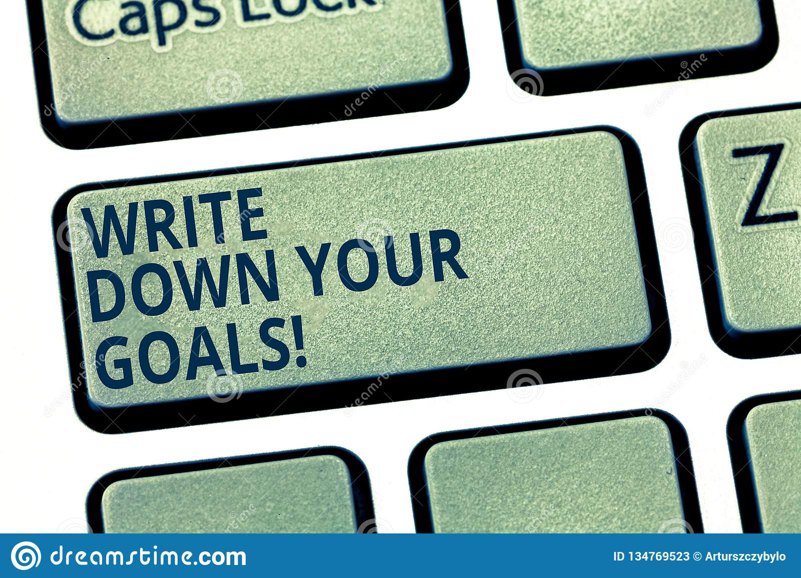 Text Sign Showing Write Down Your Goals Conceptual Photo