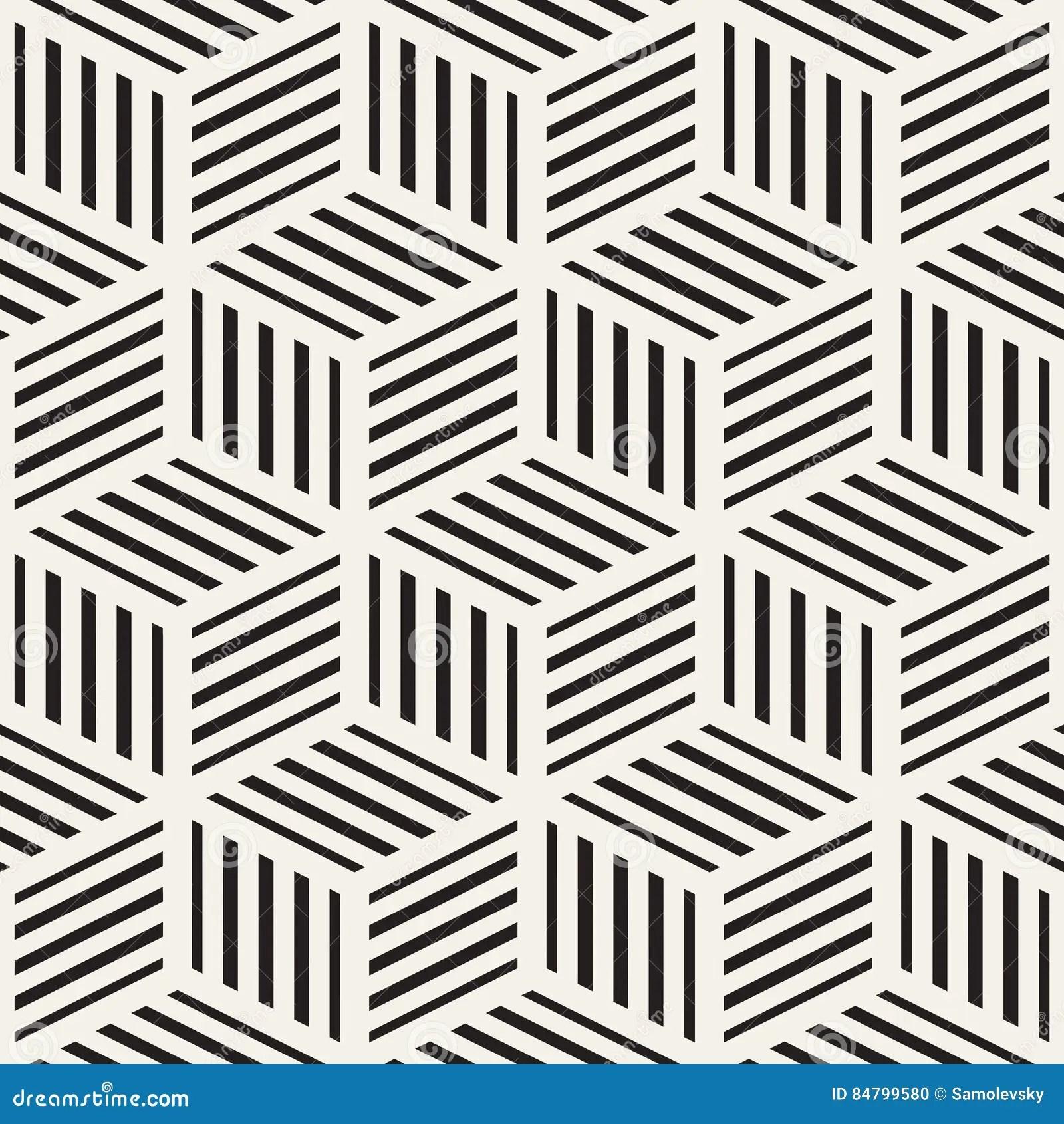 texture elegante sans fin de carrelage de grille cubique configuration noire et blanche sans joint de vecteur illustration de vecteur illustration du carrelage joint 84799580