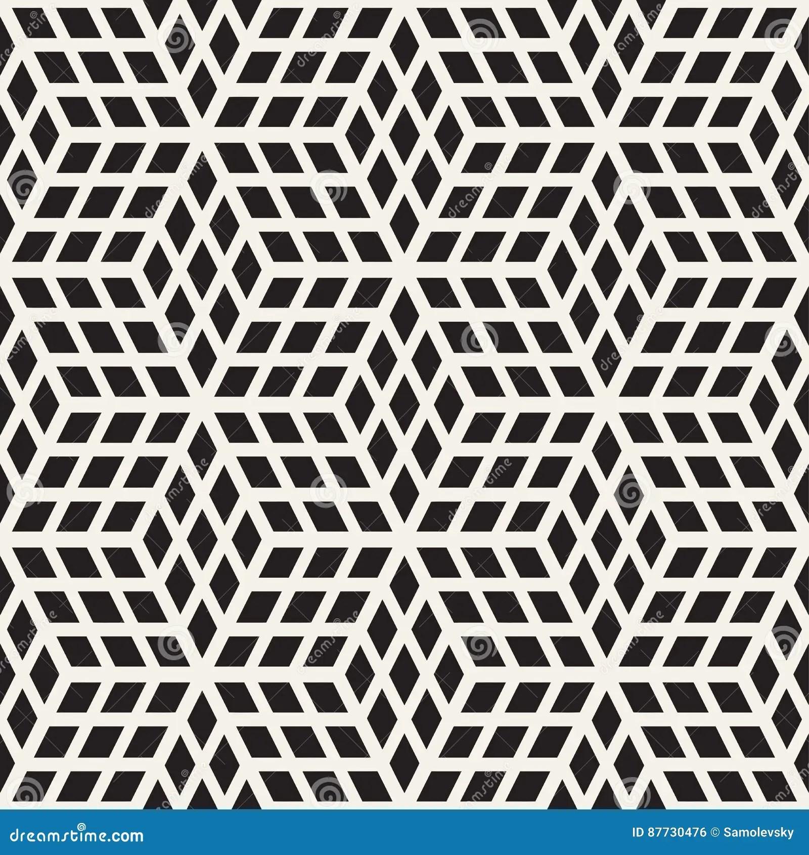 texture elegante sans fin de carrelage de grille cubique configuration noire et blanche sans joint de vecteur illustration de vecteur illustration du structure impression 87730476