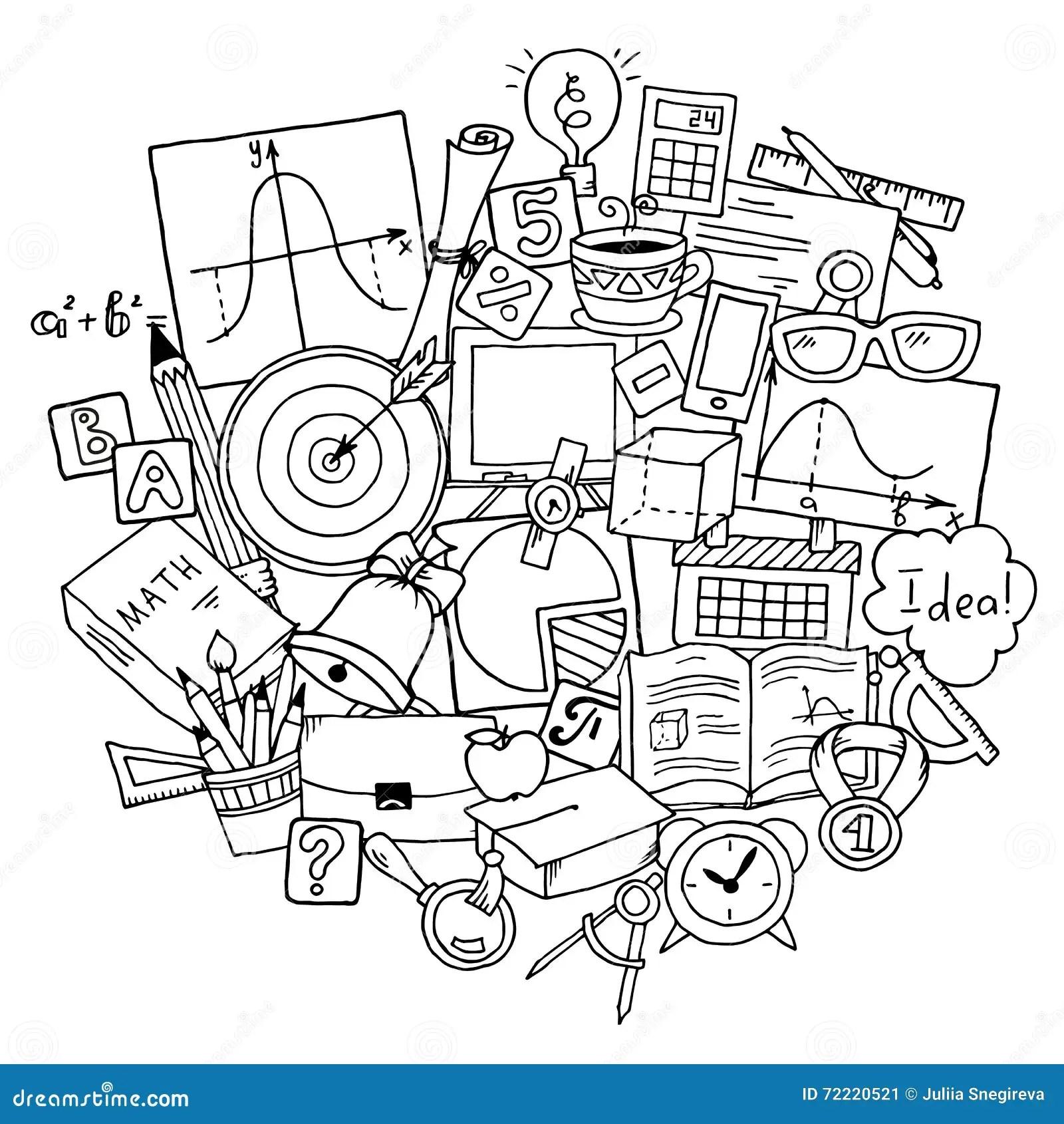 Theme De La Science De Mathematiques Modele Tire Par La